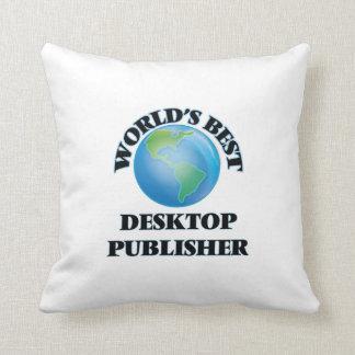 World's Best Desktop Publisher Throw Pillow