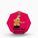 """World&#39;s Best Detective Acrylic Award<br><div class=""""desc"""">A great gift for someone who&#39;s solved a problem for you.</div>"""