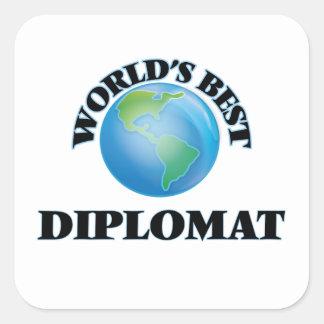 World's Best Diplomat Square Sticker