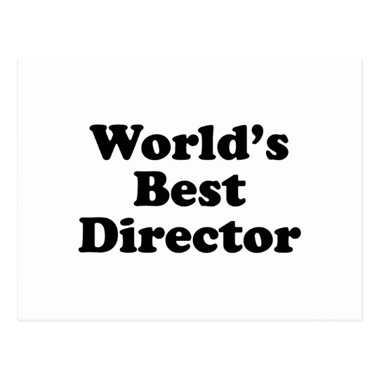 World's Best Director Postcard