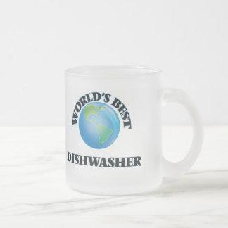 World's Best Dishwasher 10 Oz Frosted Glass Coffee Mug