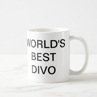 Worlds Best DIVO Classic White Coffee Mug