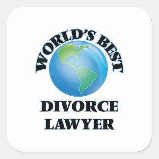 World's Best Divorce Lawyer Stickers
