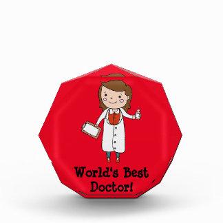 World's Best Doctor Acrylic Award