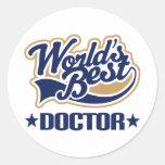 Worlds Best Doctor Classic Round Sticker