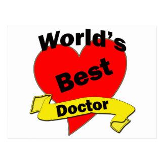 World's Best Doctor Postcard