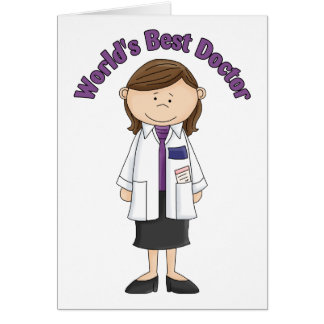 World's Best Doctor Woman Greeting Cards