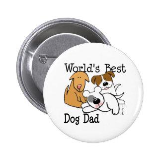 World's Best Dog Dad Button