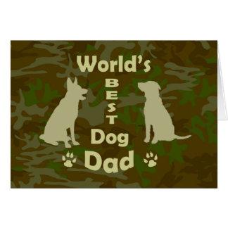 World's Best Dog Dad Card