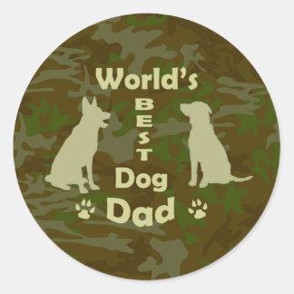 World's Best Dog Dad Classic Round Sticker