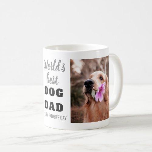 Worlds Best Dog Dad Fathers Day 2 Photo Coffee Mug