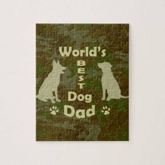 World's Best Dog Dad Jigsaw Puzzle
