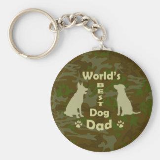 World's Best Dog Dad Keychain