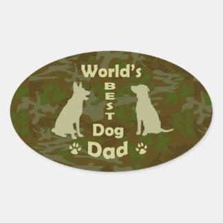 World's Best Dog Dad Oval Sticker