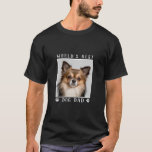 """World's Best Dog Dad Paw Prints Pet Photo T-Shirt<br><div class=""""desc"""">Let them know you're the 'World's Best Dog Dad' with this fun custom shirt featuring paw prints. Personalize it with your precious puppy dog's photo in the white frame.</div>"""