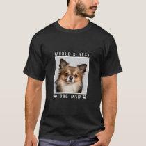 World's Best Dog Dad Paw Prints Pet Photo T-Shirt