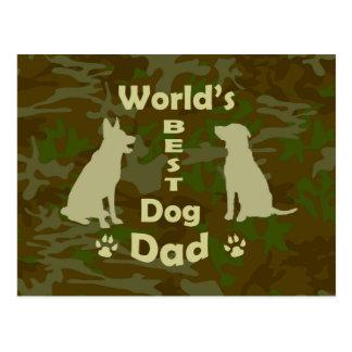 World's Best Dog Dad Postcard