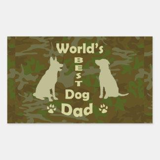 World's Best Dog Dad Rectangular Sticker