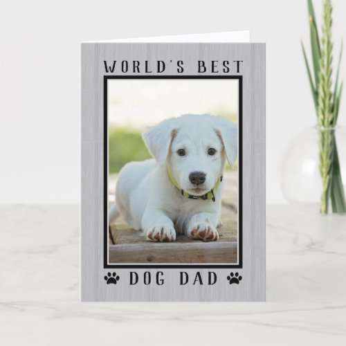 Worlds Best Dog Dad Rustic Fathers Day Photo Card
