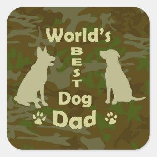 World's Best Dog Dad Square Sticker