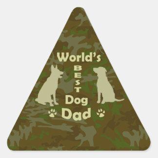 World's Best Dog Dad Triangle Sticker