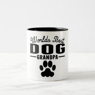 World's Best Dog Grandpa Two-Tone Coffee Mug