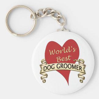 World's Best Dog Groomer Basic Round Button Keychain