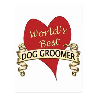 World's Best Dog Groomer Postcard