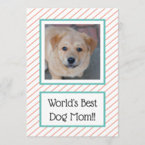 World's Best Dog Mom Coral Striped
