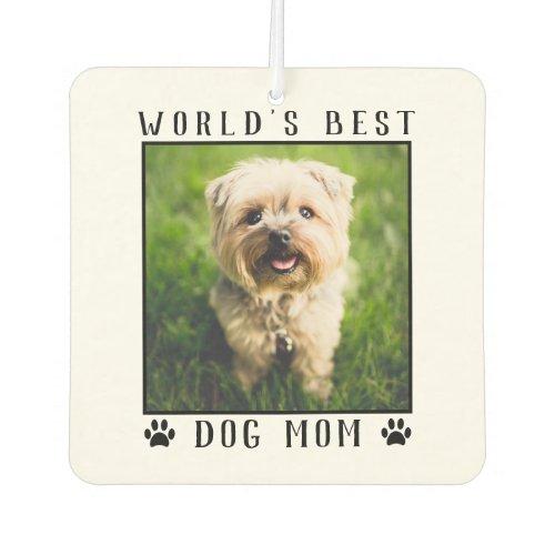 Worlds Best Dog Mom Paw Prints Pet Photo Frame Air Freshener