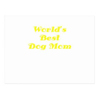 Worlds Best Dog Mom Postcard