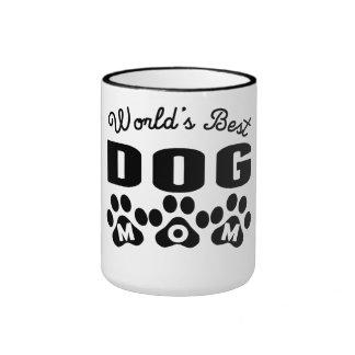 World's Best Dog Mom Ringer Coffee Mug