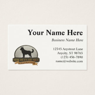 World's Best Dog [Siberian Husky] Business Card