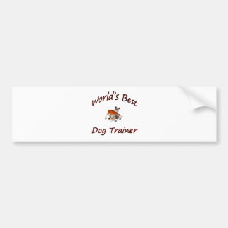 World's Best Dog Trainer Bumper Sticker