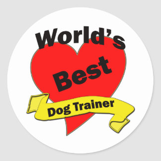 World's Best Dog Trainer Classic Round Sticker