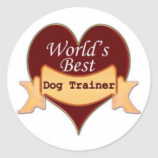 World's Best Dog Trainer Classic Round Sticker