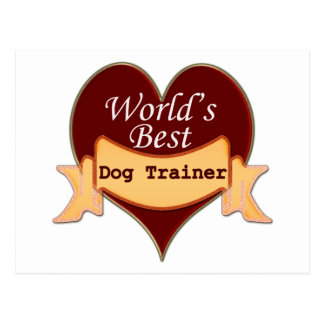 World's Best Dog Trainer Postcard