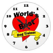 World's Best Dog Trainer Round Clocks