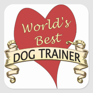 World's Best Dog Trainer Square Sticker