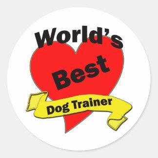 World's Best Dog Trainer Round Stickers