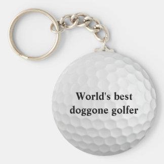 World's Best Doggone Golfer Golf Ball Keychain