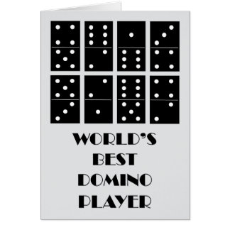 World's Best Domino Player Card