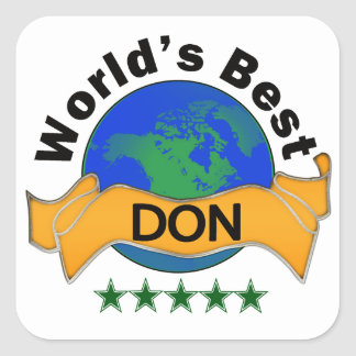 World's Best DON Square Sticker