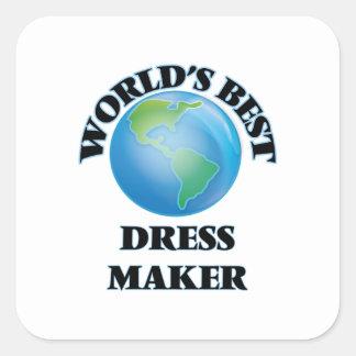 World's Best Dress Maker Square Sticker