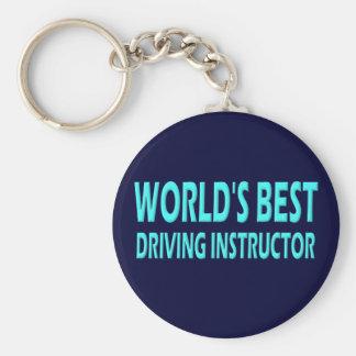 World's Best Driving Instructor Basic Round Button Keychain