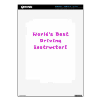 Worlds Best Driving Instructor iPad 3 Decal