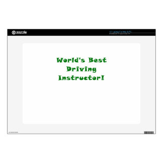 "Worlds Best Driving Instructor Skins For 15"" Laptops"