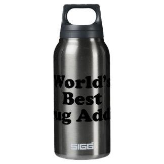 World's Best Drug Addict Insulated Water Bottle