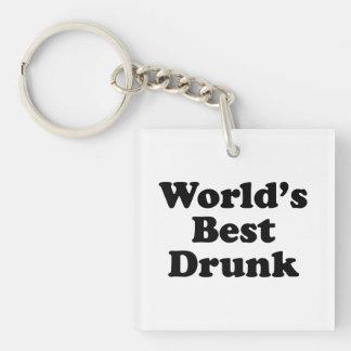 World's Best Drunk Single-Sided Square Acrylic Keychain