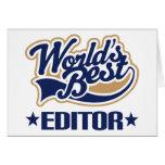 Worlds Best Editor Greeting Card